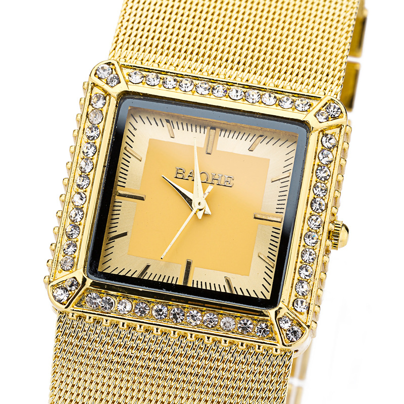 Classic women wristwatches with charm mesh belt and metal band + metal waterproof case quartz movement women watches<br><br>Aliexpress