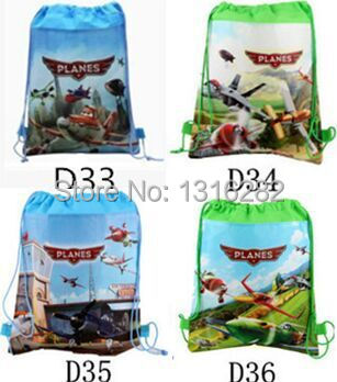 Factory Direct Planes Drawstring Bags Cartoon Shoulder Backpack Children's School Bags kids' Shopping Bags Party Gift for Kids(China (Mainland))