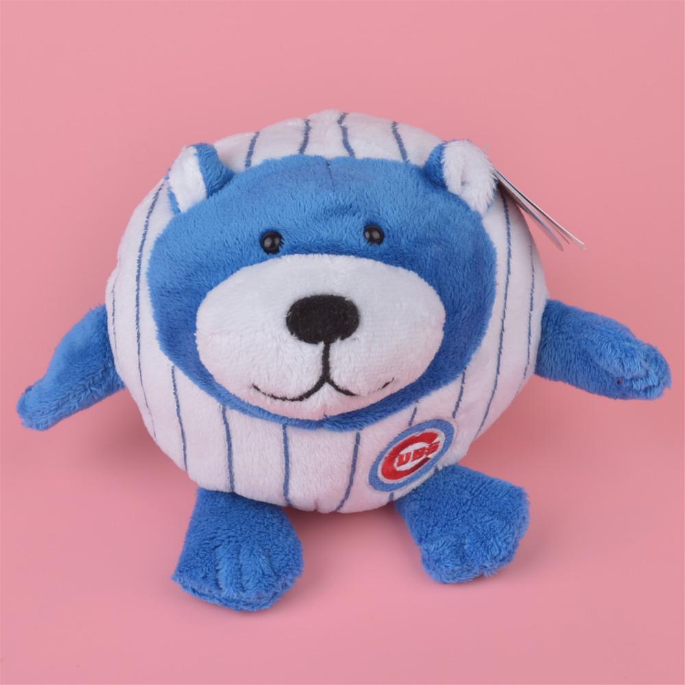 20cm Baseball Jacket Blue Bear Kids Doll Gift, Baby Teddy Stuffed Plush Toy Free Shipping(China (Mainland))