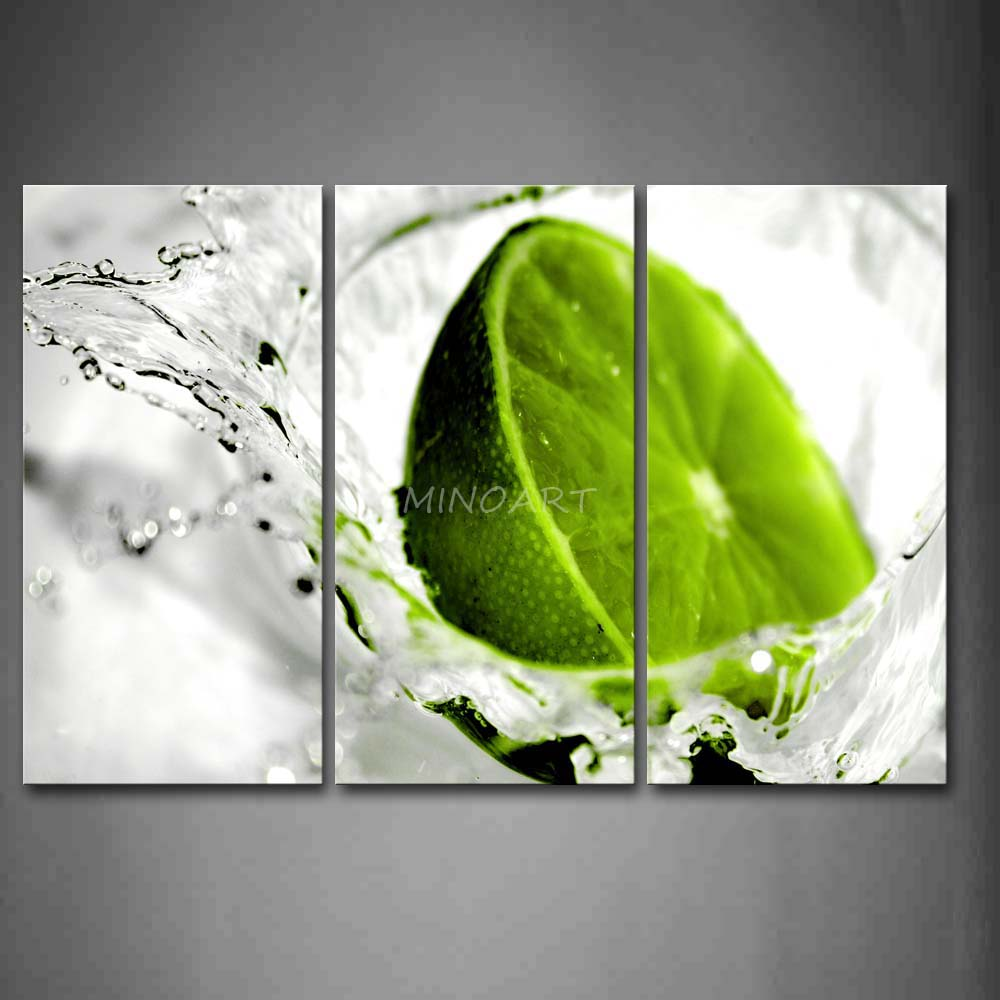 Lime green wall art popular lime wall art buy cheap lime for Green wall art