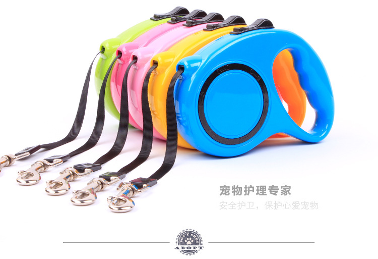 Retractable Pet Extendable Leash Lead Dogs Cats Small Medium Large Traction Rope Chain Harness Dog Collar Products - NTO store