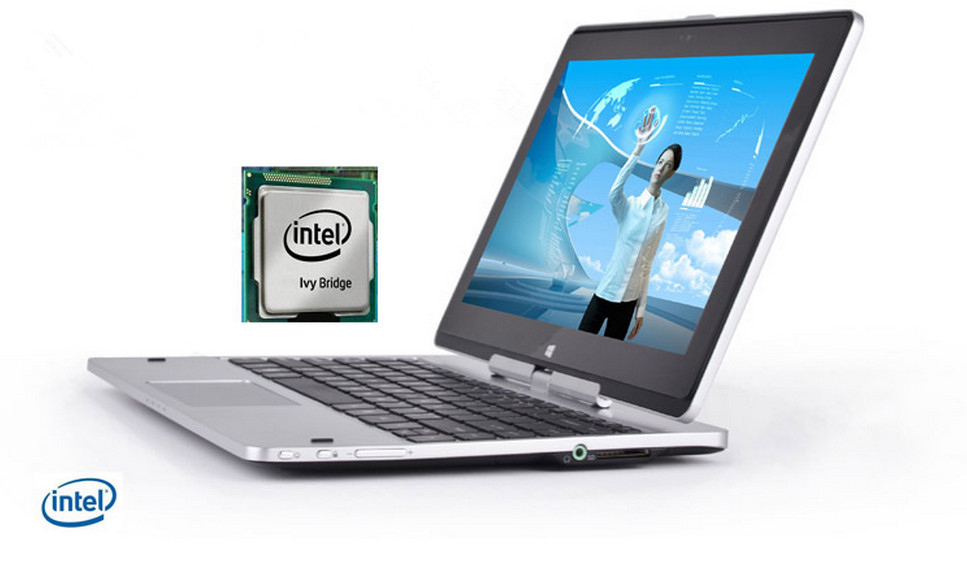 4GRAM 320GB HDD 11 6 inch laptop tablet 2 in 1 ultrathin computer intel 1037U cpu