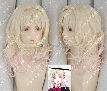 [DIABOLIK LOVERS] Komori  Yui Blonde Gradual Change Cosplay Wig
