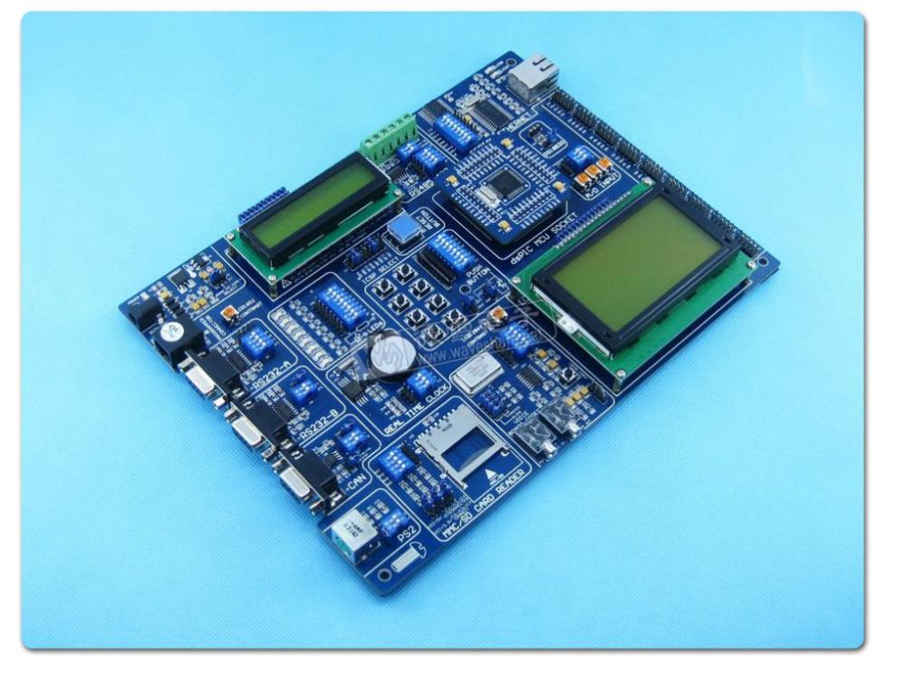 Free shipping 5PCS QLdsPIC3 dsPIC30F6014A is PIC development board evaluation board learning board core board(China (Mainland))