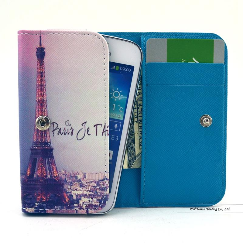 Fashion man/woman Flip Wallet Card Slot Bag Pouch PU Leather Case Phone Cover For Multi Phone Model(China (Mainland))