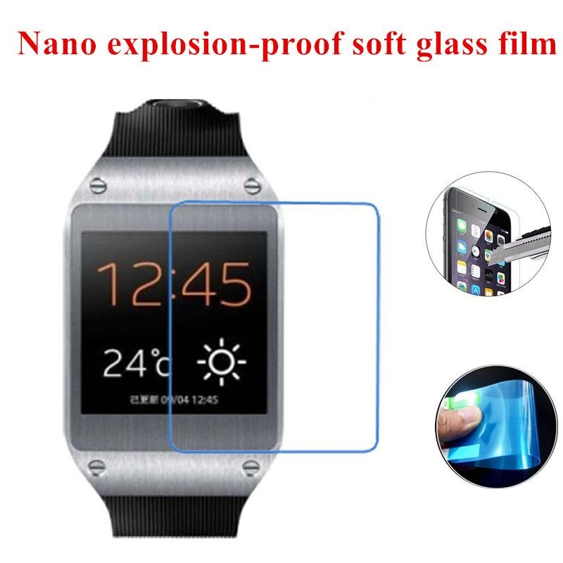 Nano Explosion-proof Soft Glass Clear Screen Protector Protective Film for Samsung Galaxy Gear V700(China (Mainland))