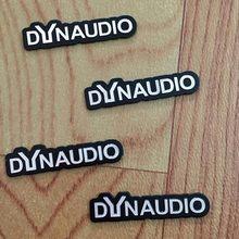 4X DYNAUDIO フェンダースピーカーアルミ 3D ステッカートランペットホーンサウンド文字のステッカー車のスタイリング Vw CC ニュービートル(China)