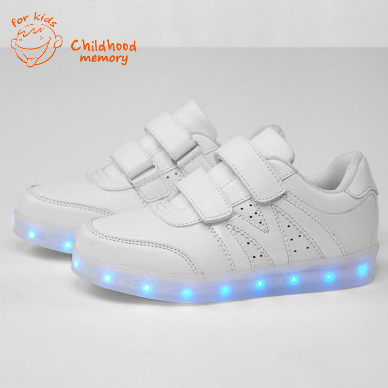 Children Light Shoes Boys Girls 2016 New Kids Casual Charge Colorful Luminous Sneakers Chaussure LED Enfant