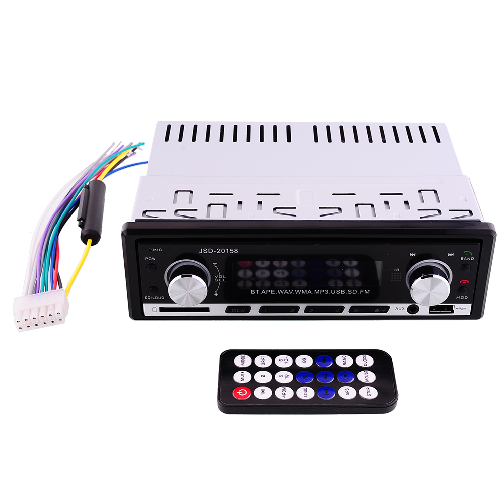 Bluetooth Car Auto Stereo Audio Radio Aux Input FM Receiver SD USB MP3 WMA WAV Remote