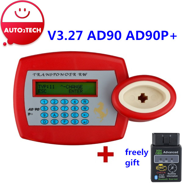 Free Shipping!! Best Quality AD90 V3.27 AD90P+Transponder Key Duplicator Plus AD90P+ Key Programmer Machine(China (Mainland))
