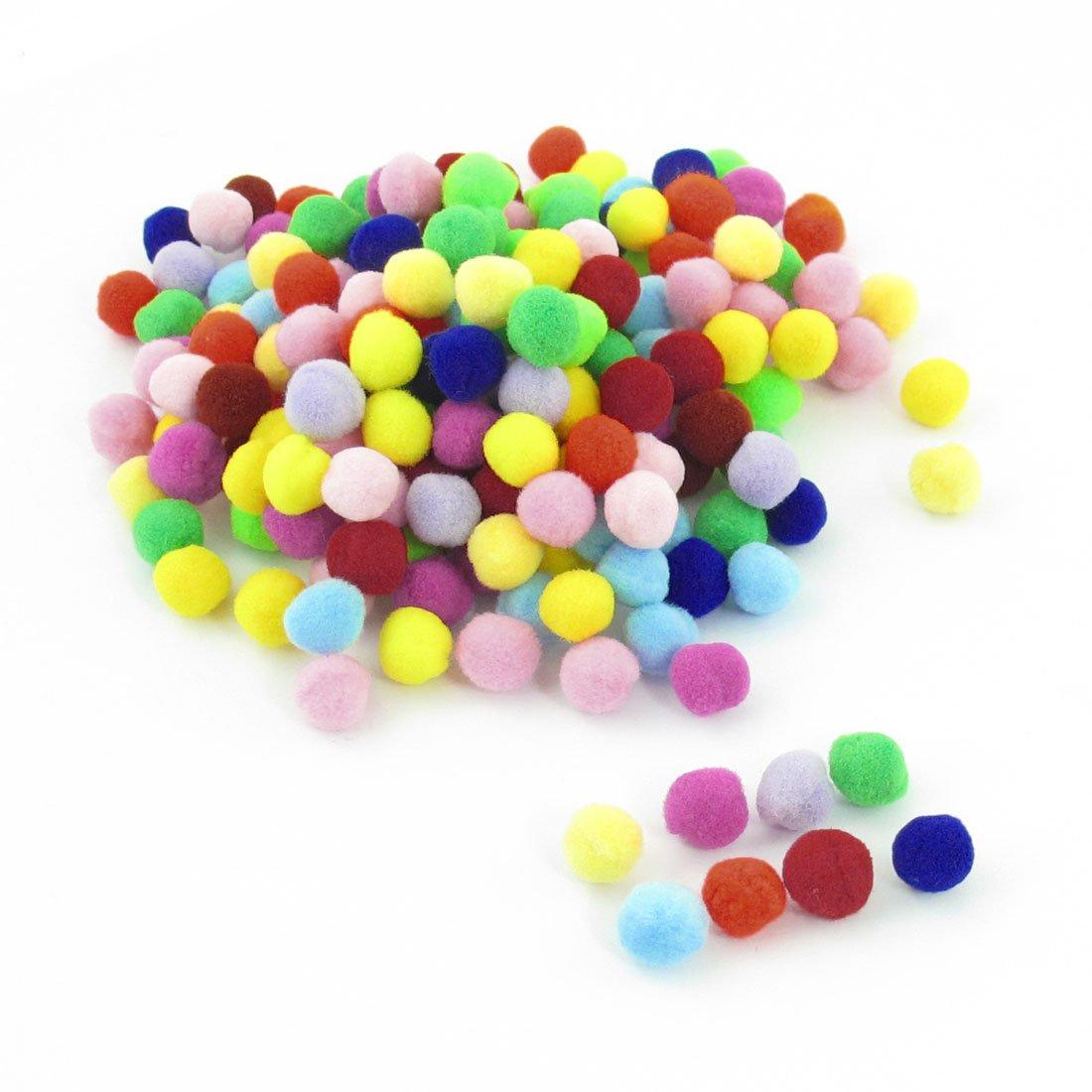 200 шт 10мм плюшевые разноцветные пом мяч пришить на одежду брюки сумки