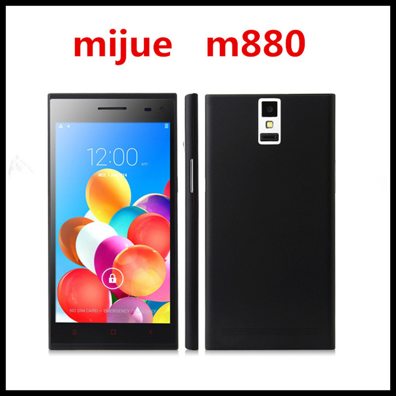 original Mijue M880 Smartphone Android 4.4.2 MTK6582 Quad core 1.3Ghz 5.5 Inch TFT touch screen 3G WiFi GPS OTG Black 13.0MP(China (Mainland))