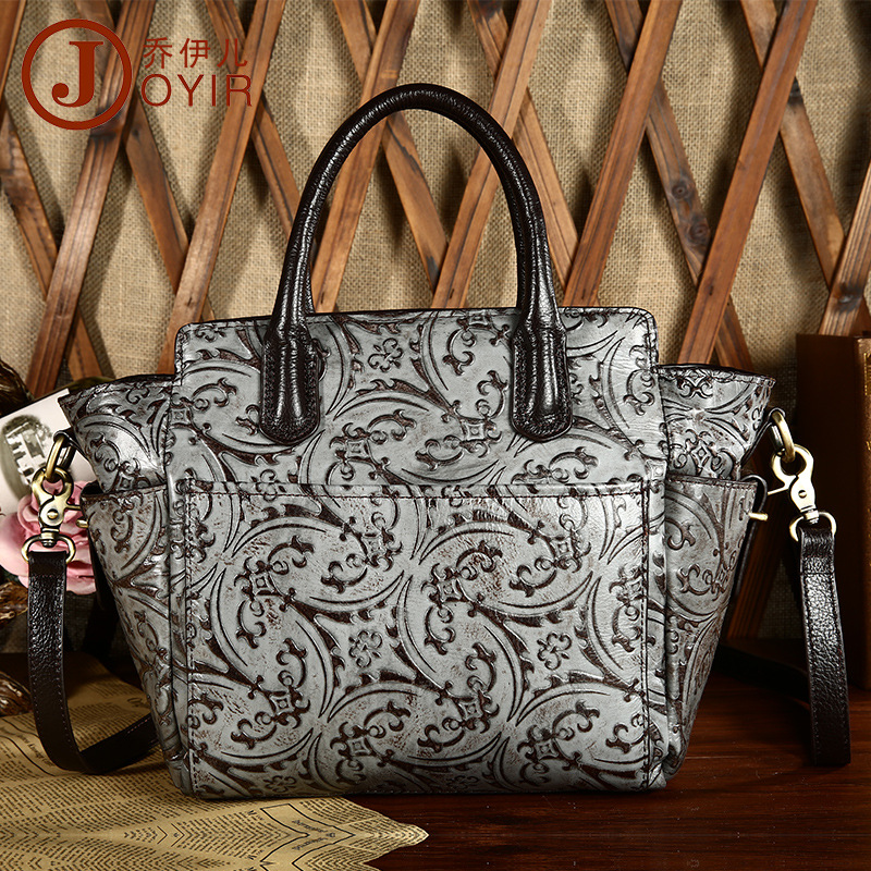 Free shipping 2016 fashion genuine leather handbag embossed womens handbag one shoulder cross-body bags wings<br>