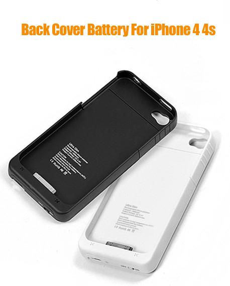 задняя крышка батареи 1900 мАч Внешняя батарея для iPhone 4 4S с питьевой мощности Банка
