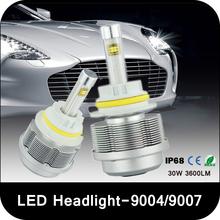 2x Plug&Play 30W 3600LM CREE ETI Chips LED Headlight Bulb H4/H13/9004/9007 Hi/Lo Beam High&Low LED Headlamp Free Shipping(China (Mainland))