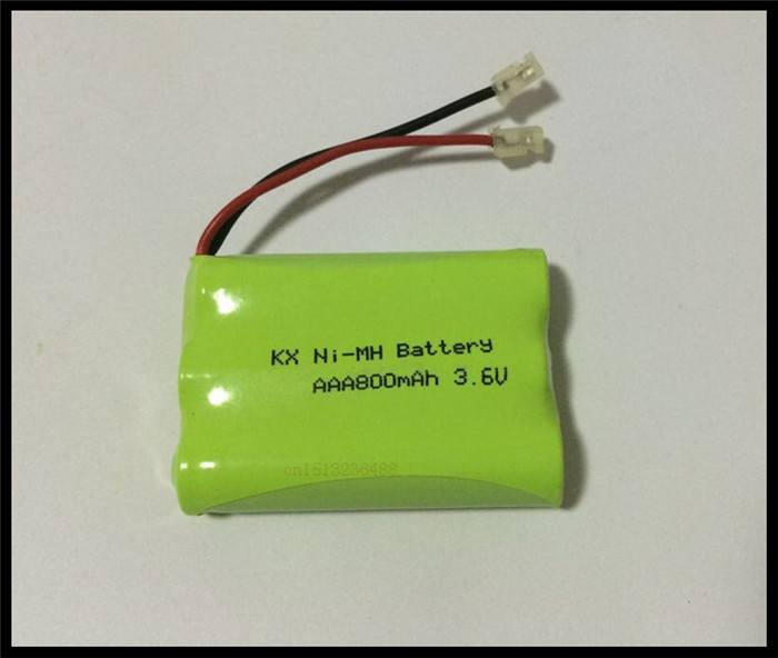 2 PCS/lot KX Original New Ni-MH AAA 3.6V 800mAh Ni MH Rechargeable Battery Pack With Plugs For Cordless Phone Free Shipping(China (Mainland))