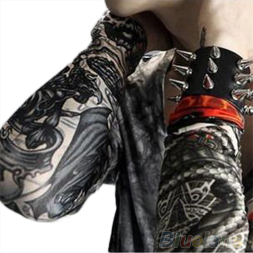 6 Pcs/lot Men fashion Temporary Fake Slip On Tattoo Arm Sleeves Kit Sleeves 00RT(China (Mainland))