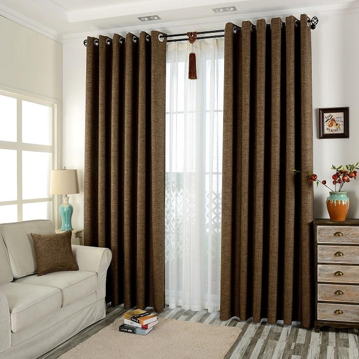Brun panneau rideaux promotion achetez des brun panneau for Rideaux porte fenetre salon
