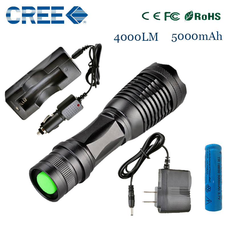 ZK20 e17 CREE XM-L t6 4000 lumens led flashlight torch adjustable lights & lighting torch for AAA and 18650 battery rechargeable(China (Mainland))