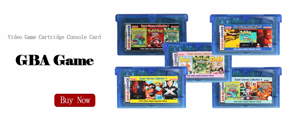 Nintendo GBA Video Game Cartridge Console Card Pokemon Series Liquid Crystal English Language Version