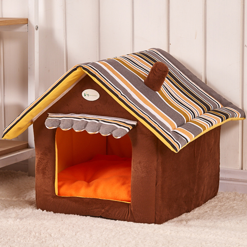 2016 Detachable Pet Product Dog Beds Soft Dog Kennel Dog House For Pets Cat Puppy Home Shape Animals House Products For Animal(China (Mainland))