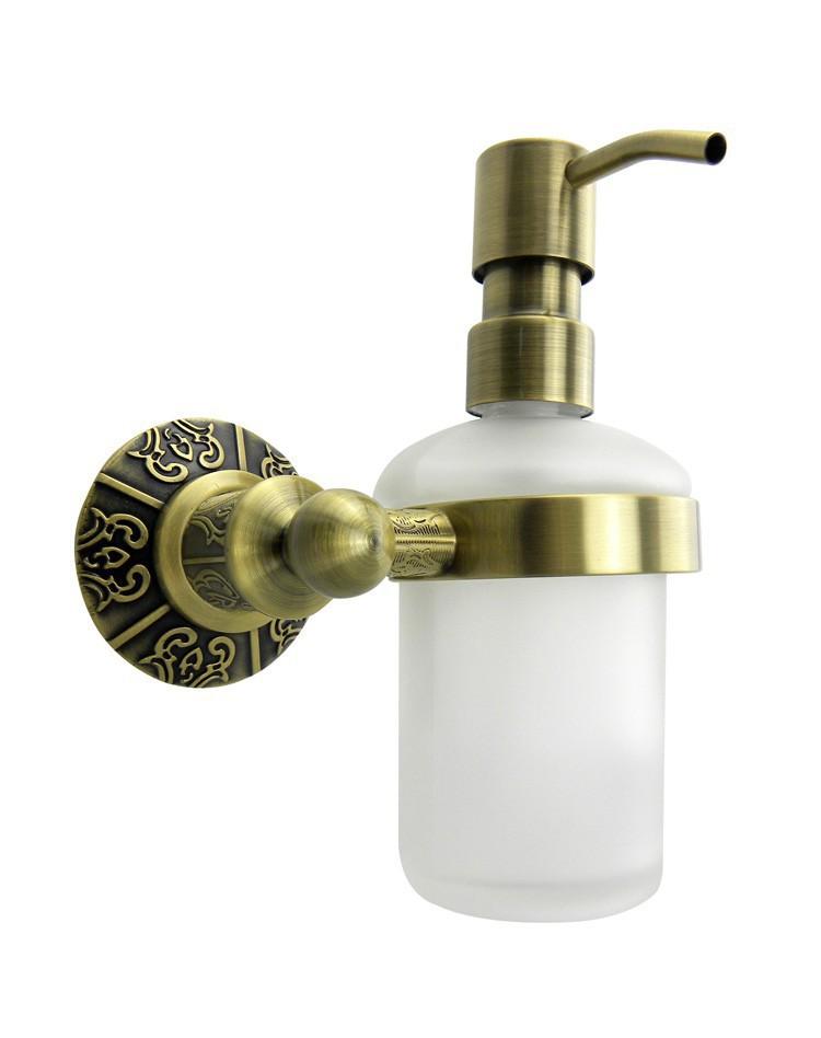 Free Shipping Brass Antique Bronze Soap Dispenser Holder Liquid Soap Dispenser Bathroom