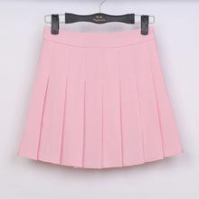 Buy Summer American School Style Fashion Women elegant half Pleated mini Skirts high waist casual girls skirts women leggings skirt for $11.99 in AliExpress store