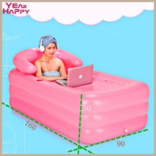 DHL Portable bath adult bathtub plastic inflatable bath tub adults folding inflavel inflatable 165 X 90 X 50 CM + Foot Air Pump(China (Mainland))