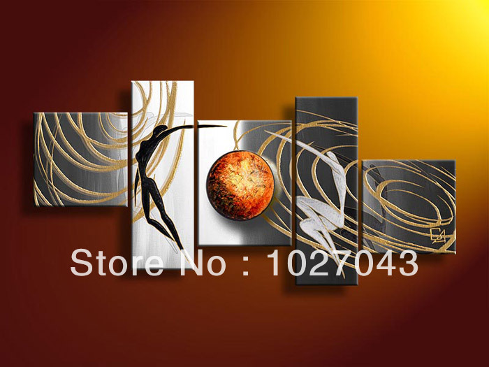 100% Handpainted High End Amazing Large Living Room Decoration Universe Oil Painting Brown Wall Canvas Art Picture P1562(China (Mainland))