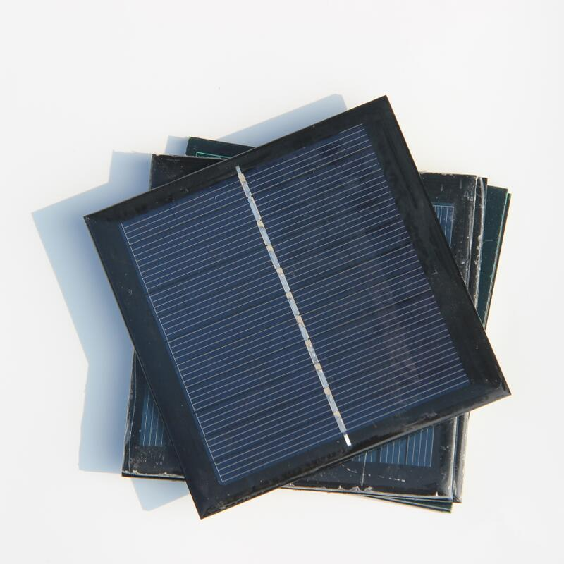 Wholesale 1W 5.5V Mini Solar Cell Polycrystalline Diy Solar Panel For 3.6V Battery Charger 95*95*3MM 50PCS/Lot Free Shipping(China (Mainland))