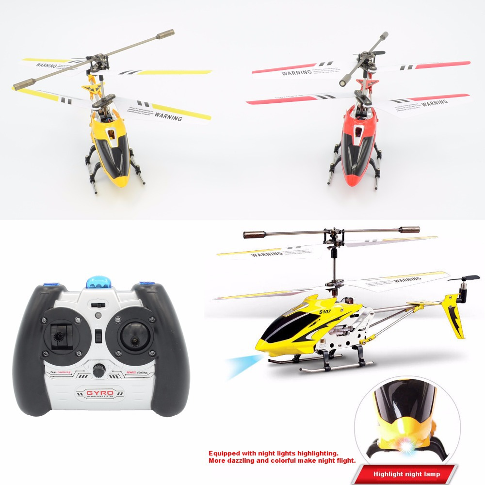 Syma S107G 3.5Channel Gyro System Mini Infrared Remote Control Rc Helicopter Red Yellow(China (Mainland))