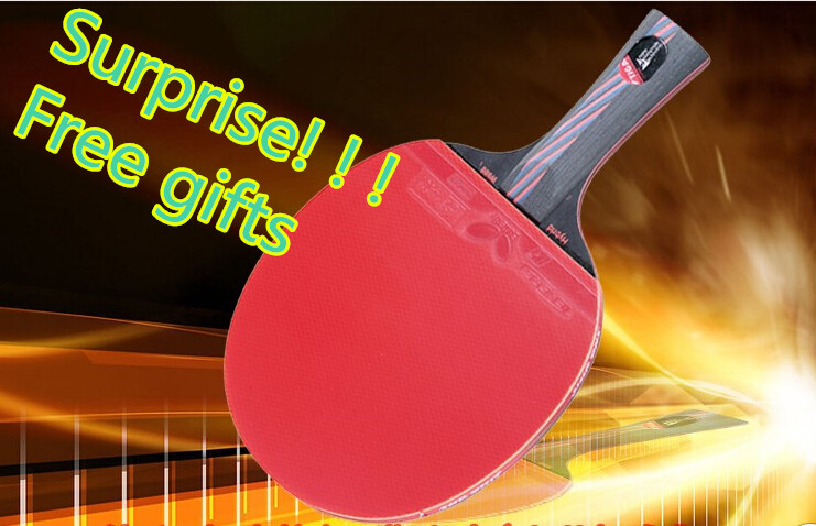 Hybrid Wood 9.8 Brand Quality Table tennis racket Ddouble face Pimples-in blue rubber Ping Pong Racket tenis de mesa(China (Mainland))