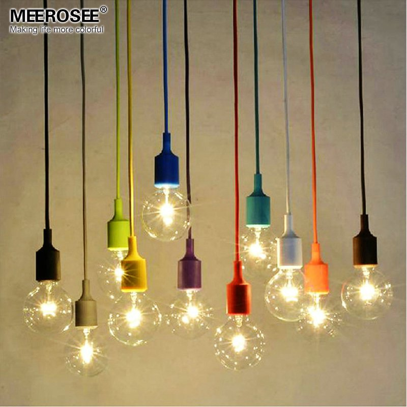 Colorful chandelier light e27 socket suspension drop lamp for Where can i buy light bulbs