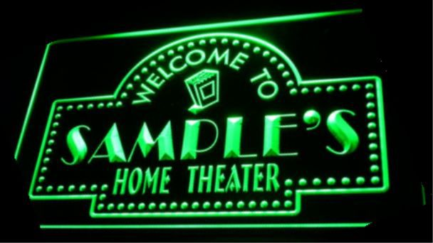tm-03 Name Personalized Custom Home Theater Bar Neon Sign Wholesale Dropshipping(China (Mainland))
