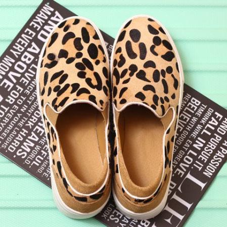 Free Shipping Brand Designer women flat platform Genuine Leather+Horse hair women Comfortable loafers Womens Leopard Flats<br><br>Aliexpress