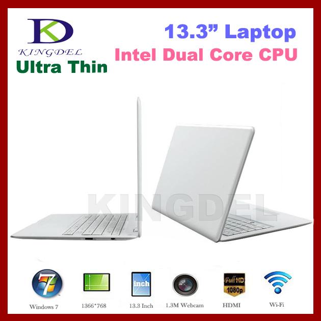 13.3 inch laptop computer Notebook with Intel Atom D2500/N2600 Dual Core Webcam HDMI,WIFI,4500mah Battery Windows7 4GB/640GB(Hong Kong)