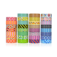20 pcs/lot DIY Japanese Paper Decorative Adhesive Washi Tapes Masking Colorfull Stickers Size 15mm*10m 59 design - Happy time stock store