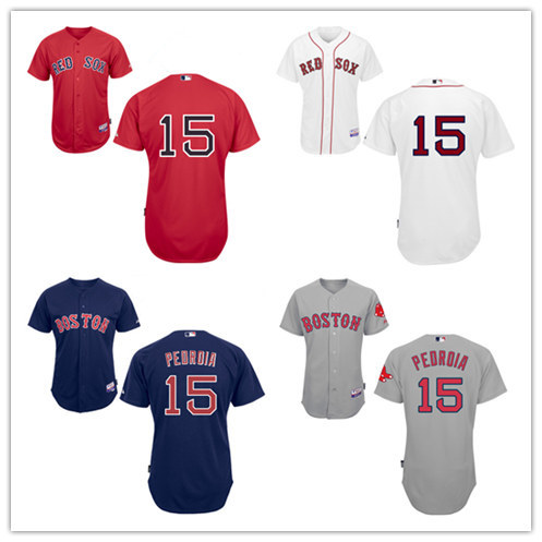 New Men Boston Red Sox 15 Dustin Pedroia Baseball Jersey Cutomized Embroidered Stitched Shirt Free Shipping Mix Order(China (Mainland))