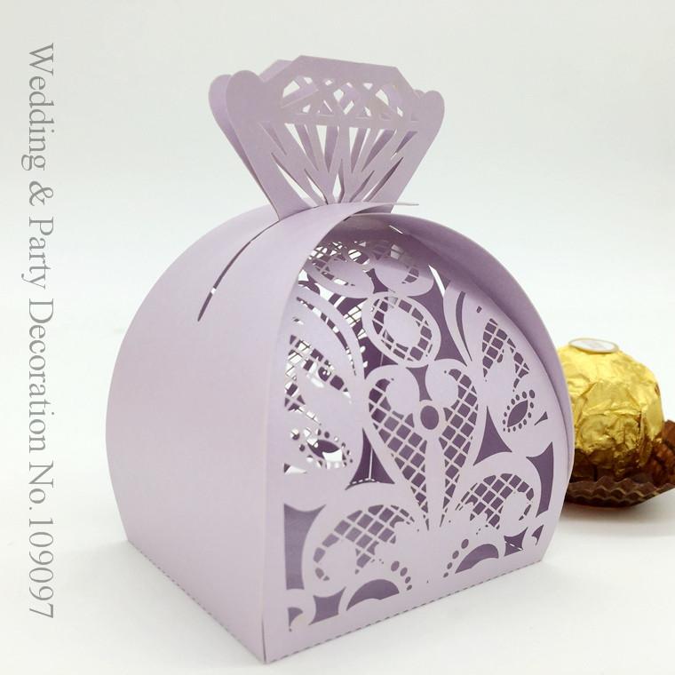 200pcs Laser Cut Wedding Favor Box In Purple Color Candy Box,Wedding Favors And Gifts,Wedding Supplies(China (Mainland))