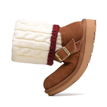 Invierno botas cálidas botas de lana del cuero genuino impermeable antideslizante botas de nieve niña masculinas(China (Mainland))