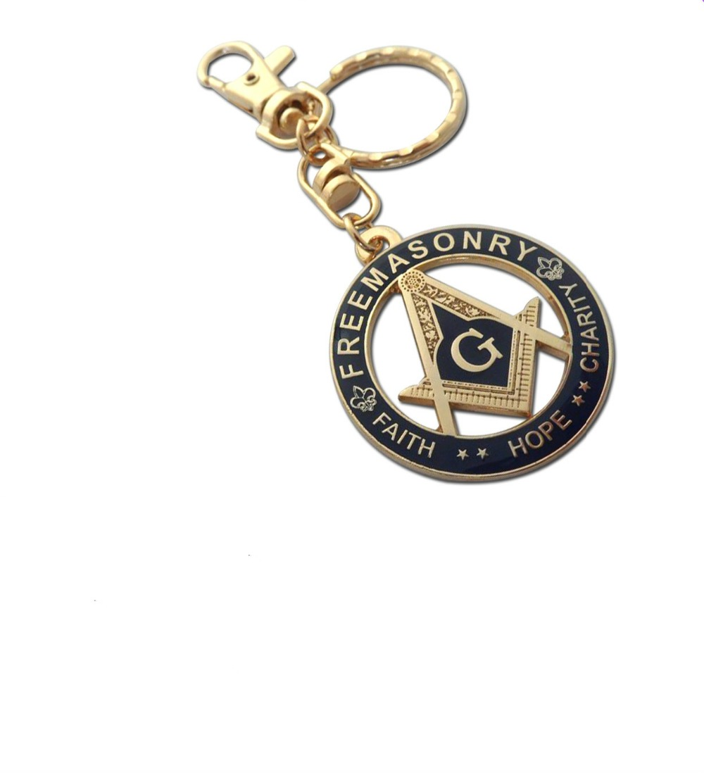 freemasonry masonic paint dripping key chain small ornament gift for friends(China (Mainland))