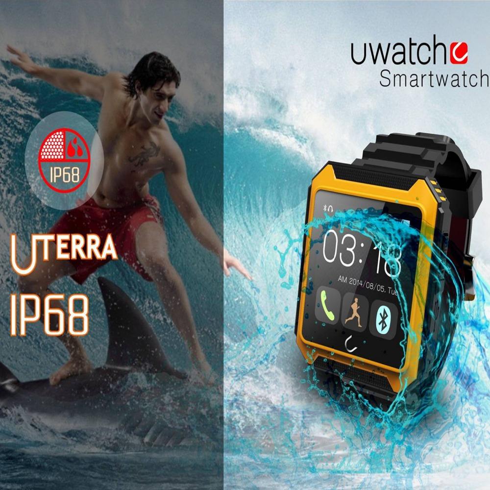 2016 IP68 Waterproof Compass Bluetooth Watch Uterra Smart Watch Android Smartwatch Uwatch for iPhone Samsung Sony HTC Smartphone
