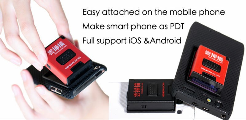 1D Laser GS-M100BT-pro Mini wireless Barcode Scanner for iOS/Android Win 8 OS smartphone and pad, long scanning distance