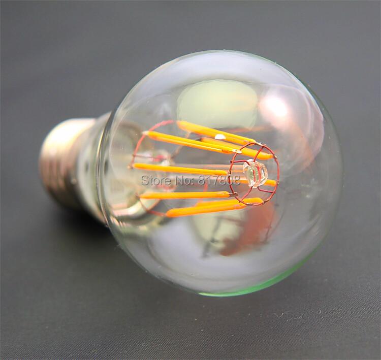 Dimmable 8W E27 B22 LED Filament bulb lamp 360 degree led bulb lights AC110V AC220V led filament Lights warm white(China (Mainland))