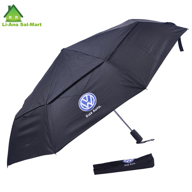 Марки автомобиля логотип напечатан большой размер зонты продажа слоев ветрозащитный 3 раза автоматическая мужские большой дождь зонтик - B