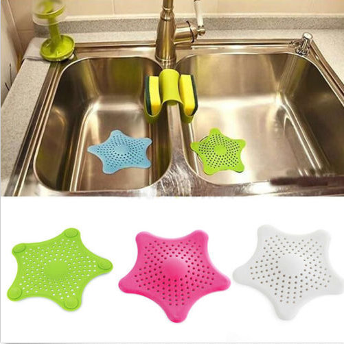 Гаджет  Starfish Hair Catcher Rubber Bath Sink Strainer Shower Drain Cover Trap Basin None Строительство и Недвижимость