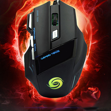 Newest Professional 5500 DPI 7 Button LED Optical USB Wired Gaming Mouse Mice for Pro Gamer High Quality