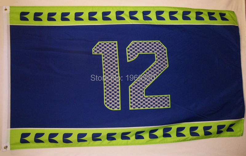 Seattle Seahawks Jersey Large Outdoor Flag 3X5(China (Mainland))