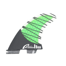 Carbon Honeycomb surf fin Tri FCS II  set for SUP, surfboard, stand up paddle board accessories green Carbon fiber keyless