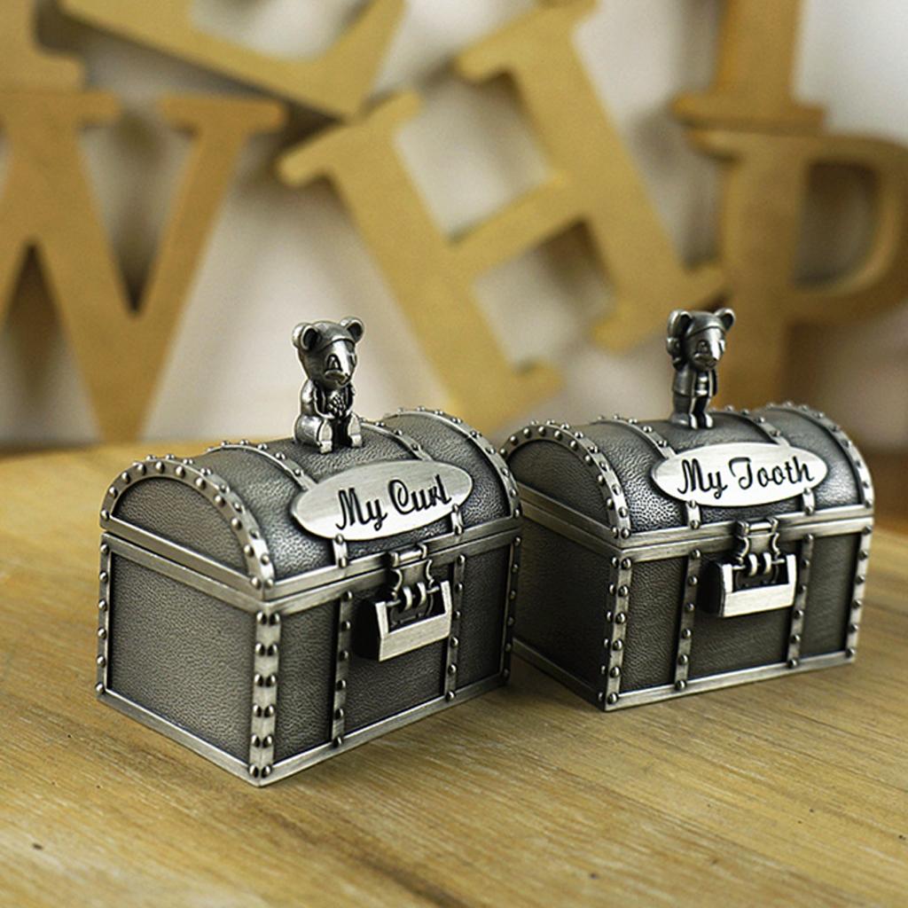 MagiDeal My First Tooth&Curl Silver Trinket Box Set Keepsake Boy Girl Children Kids Baby Novelty Birthday Gift Toy 7Kinds
